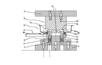 成华制造专利:手扳葫芦扳手内板与制动器罩的专用铆接装置